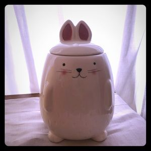 Magenta bunny canister